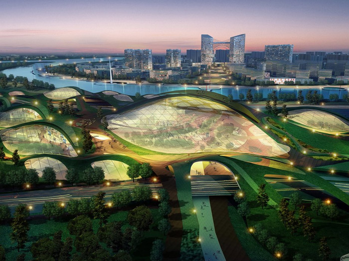 Tianjin, China eco-city is poised to become a model for sustainable urban planning and development. (Photo: Inhabitat)